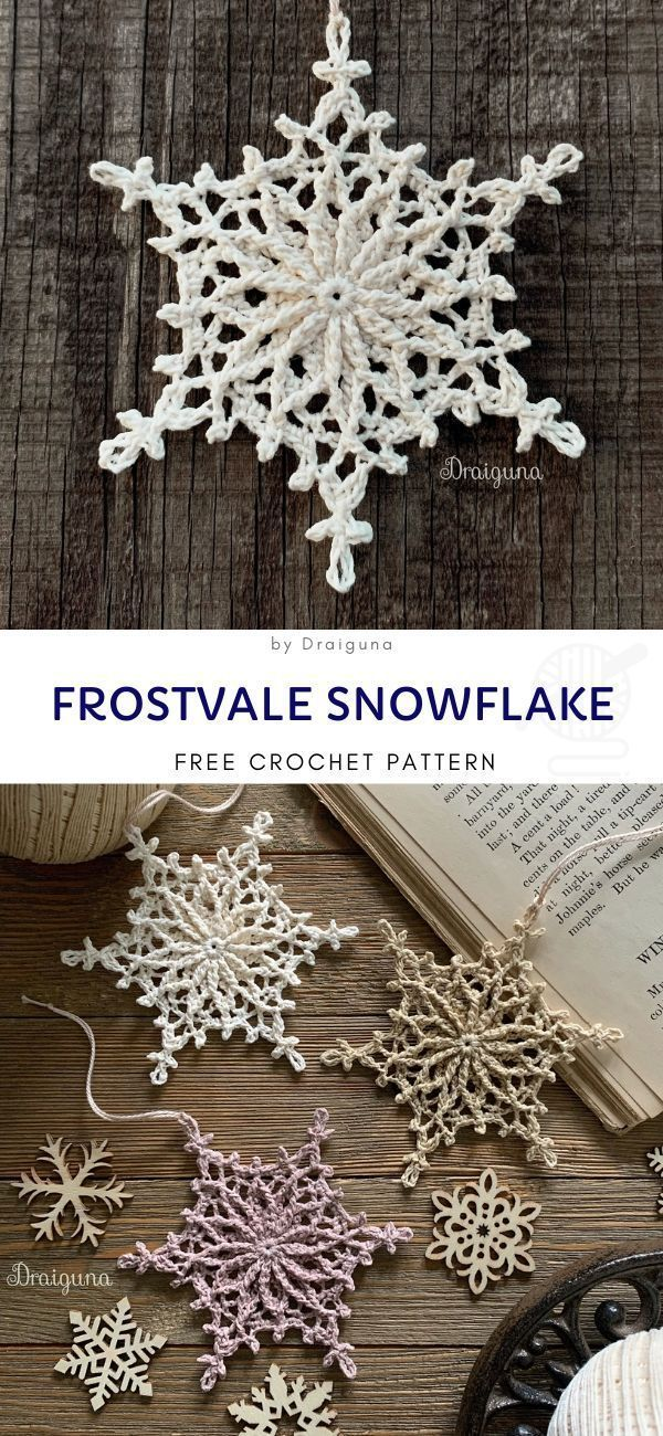 Photo of Snowflakes Crochet Decorations for Winter