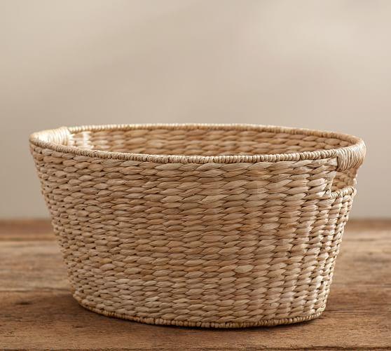 Savannah Laundry Basket In 2020 Pottery Barn Shoe Storage Basket Storage Baskets