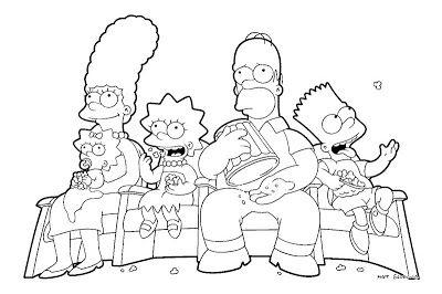 Desenhos Para Colorir Simpsons Tegninger Boker