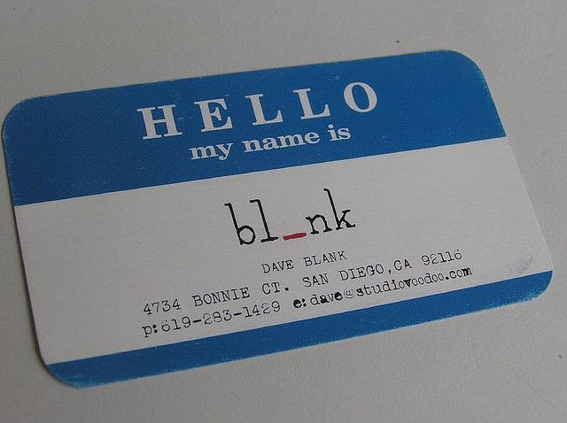 Dave blank business cards business card for dave blank reheart Gallery