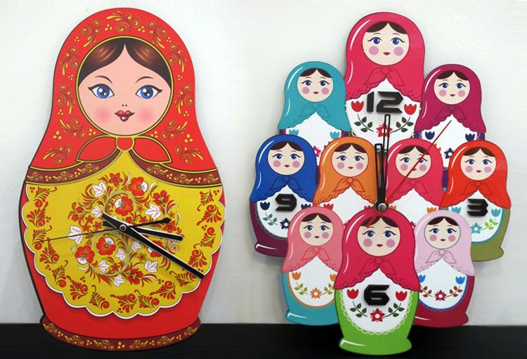 Matryoshka Clock | From Russia with Love! Need this for my Russian Kitchen