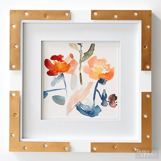 11 Picture-Perfect Ways to Hack a Cheap White Frame | Metallic gold ...