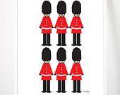 "London Guard Toy Soilder Print 8x10"" Babies Room Childs Bedroom Wall Art Decor United Kingdom British UK"