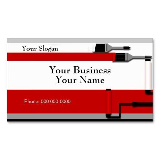 Painter Business Card Template Construction Maintenance - Painter business card template