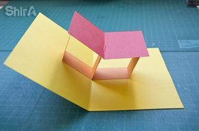 Pop Up Tutorial 3 Table Top Or Floating Plane Technique Pop Up Cards Pop Up Book Card Tutorials