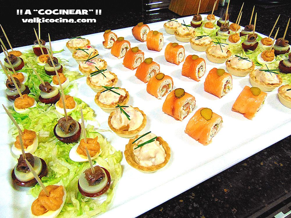 Aperitivos r pidos bandeja de canap s me gusta for Cheap wedding canape ideas