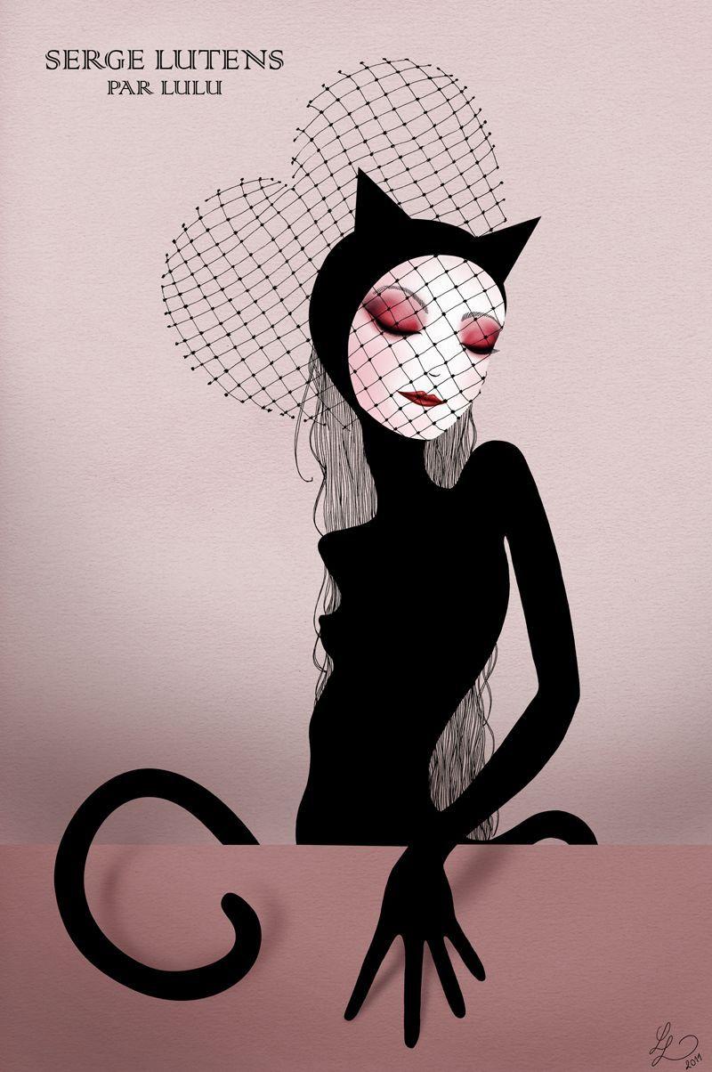 Serge Lutens by Lulu Eclectic art, Poster art