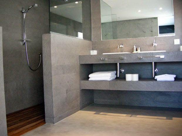 Paredes suelo y plato de ducha en microcemento bathroom - paredes de cemento