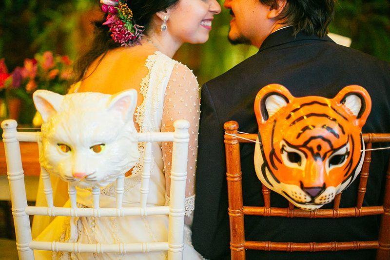 Cadeira dos noivos - Casamento Boho