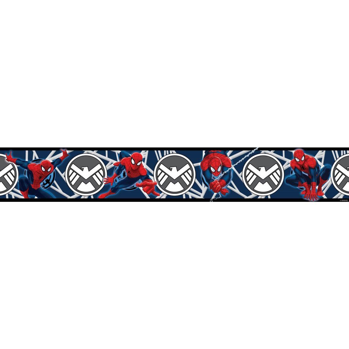 Disney Cars Wallpaper Border Uk Spiderman Blue Self Adhesive Wallpaper Border 5m Boys