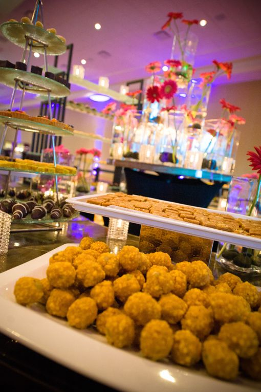 Indian Reception Sweets Dessert Table With Ladoos Via Indianweddingsite