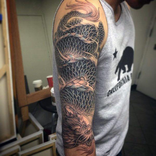 100 Dragon Sleeve Tattoo Designs For Men Fire Breathing Ink Ideas In 2020 Sleeve Tattoos Dragon Sleeve Tattoos Tattoo Sleeve Designs