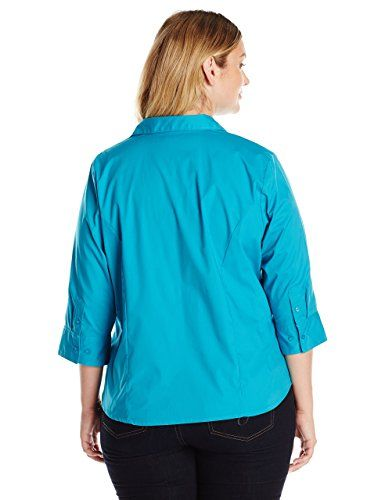 0e55f94f223 Riders by Lee Indigo Women s Plus Size Bella Easy Care 3 4 Sleeve Woven  Shirt