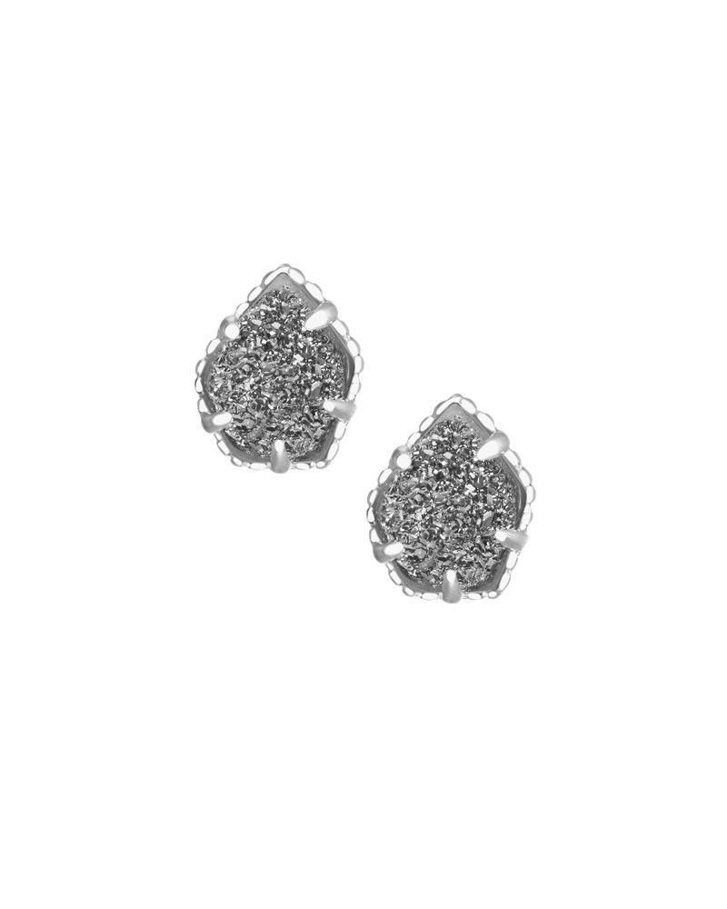 Tessa Silver Stud Earrings In Platinum Drusy  Kendra Scott Jewelry