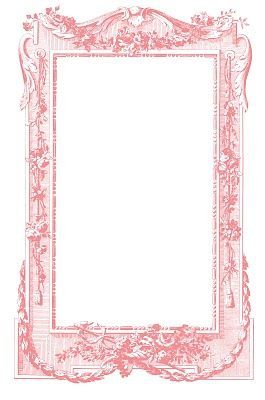 Pink Vintage Border Templates Antique Images - Fabul...