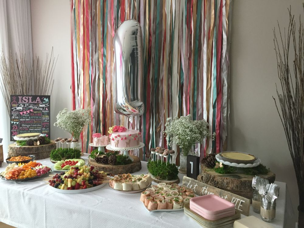 Woodland Birthday Party On Canadian Mountain Chic Boy First 90th 1st