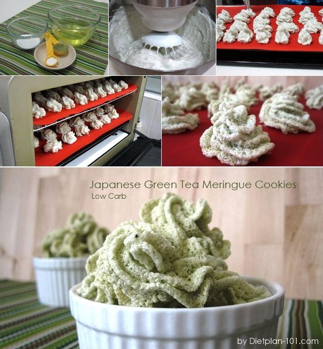 Low Carb Japanese Green Tea Meringue Cookies (Atkins Diet Phase 1 Recipe) | Diet Plan 101