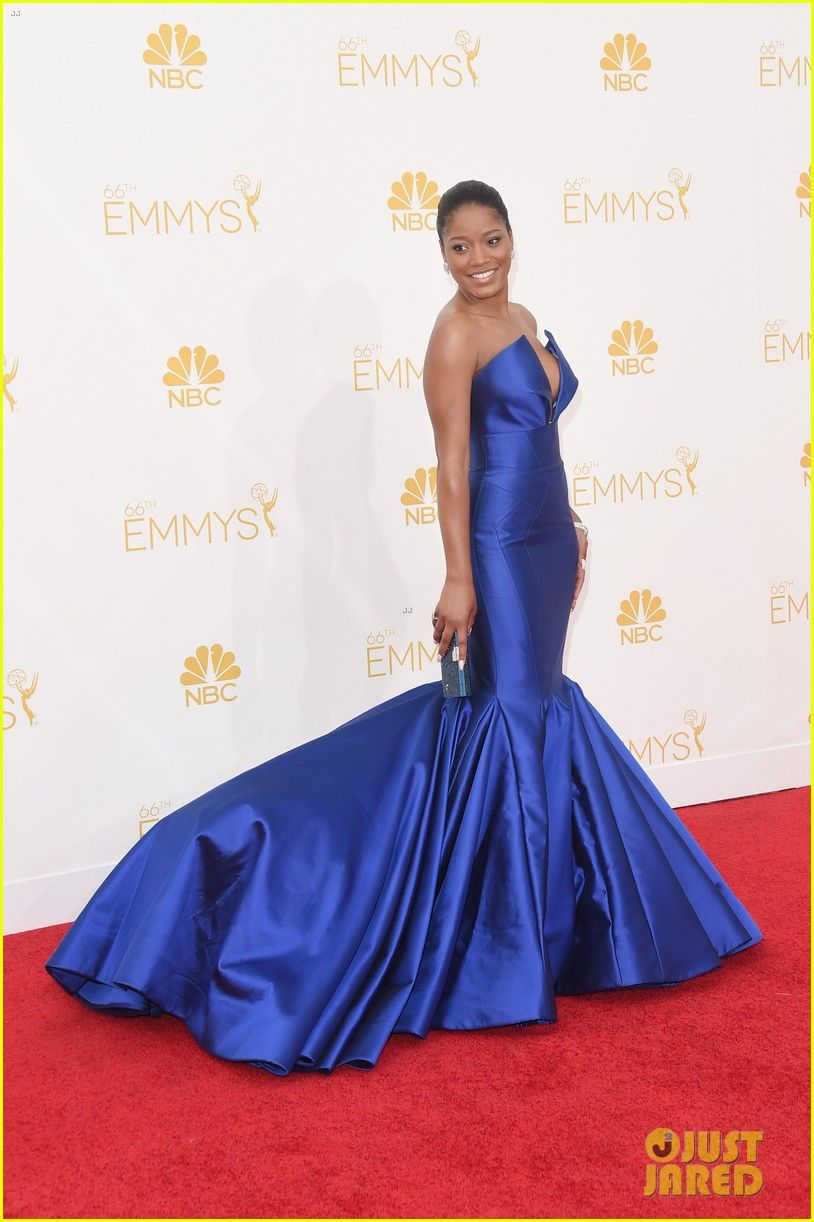 Keke palmer rocks royal blue on emmys red carpet keke palmer