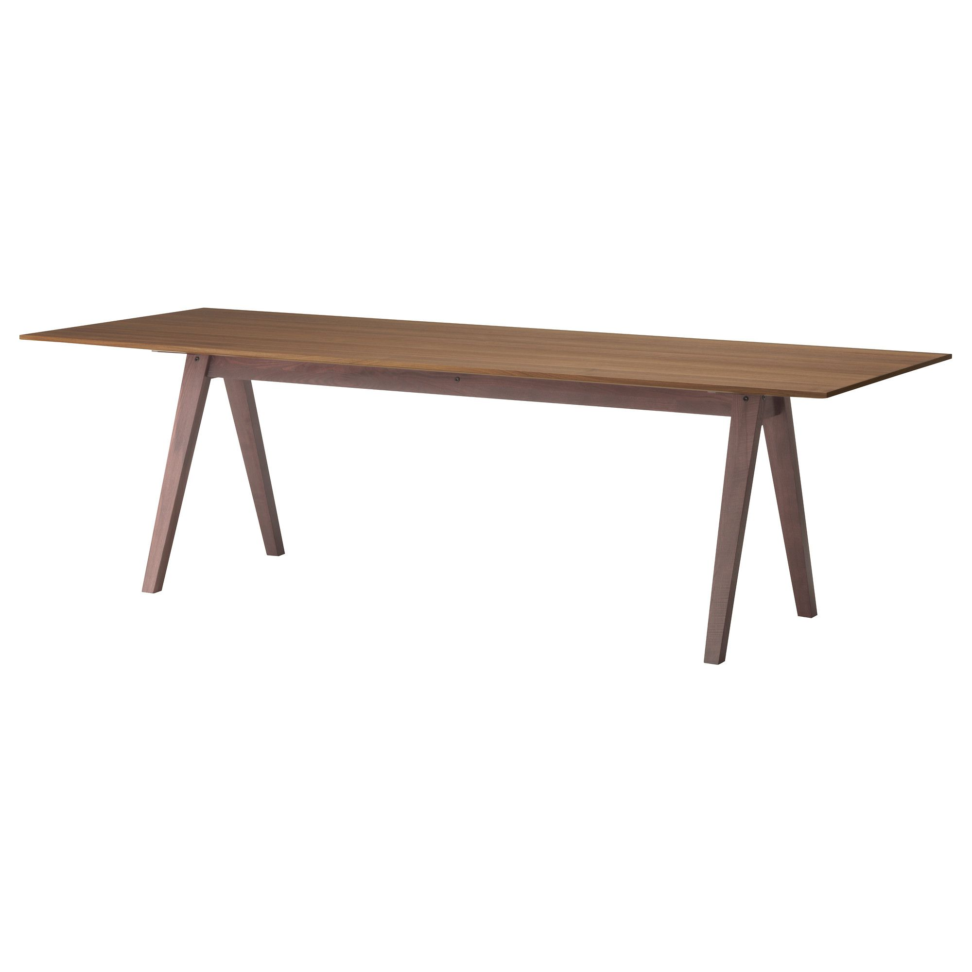 Stockholm table 240x90 cm ikea grande table for Table salle a manger grande longueur
