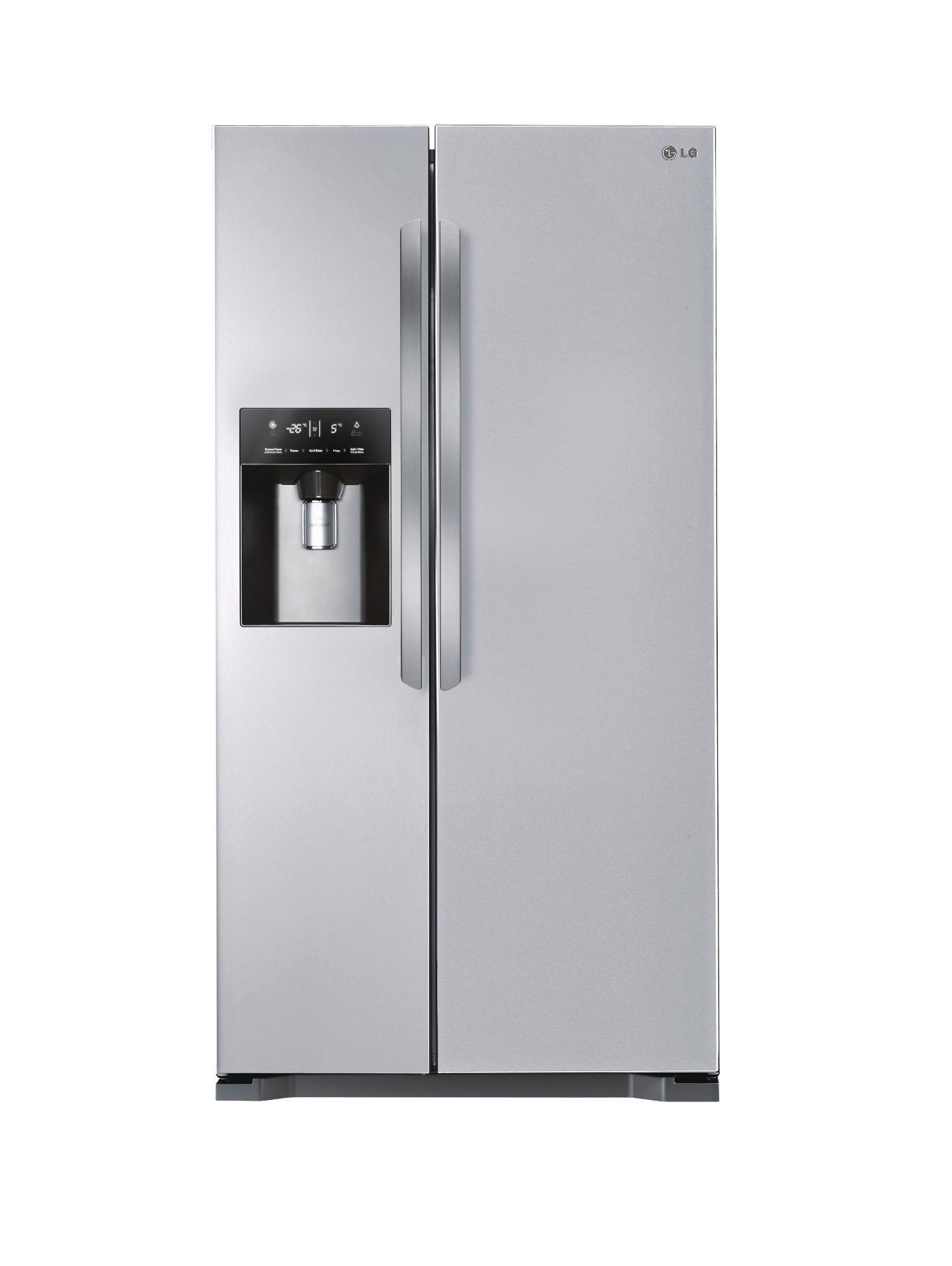 LG GSL325PVQV Frost Free USA Style Fridge Freezer - Silver | very.co
