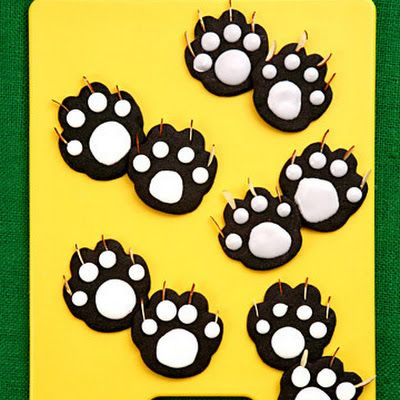 Black Cat Paw Cookies