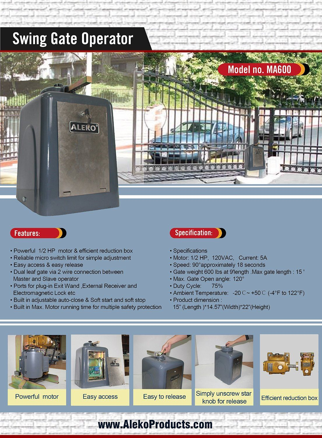 Automatic Gates Openers Residential Pin By Aleko On Gate Opener Gate Openers Gate Operators