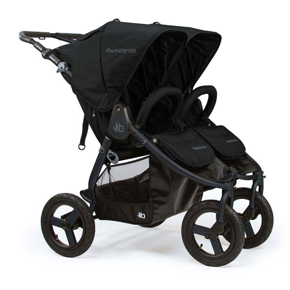 Indie Twin Stroller Matte Black Black Twin strollers
