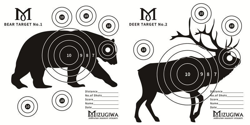 Paper Animal Targets For Practise, Shooting or Archery