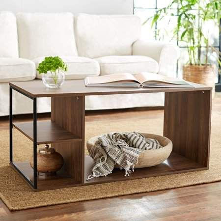 Astounding Mainstays Kalla Wood And Metal Coffee Table Multiple Colors Machost Co Dining Chair Design Ideas Machostcouk