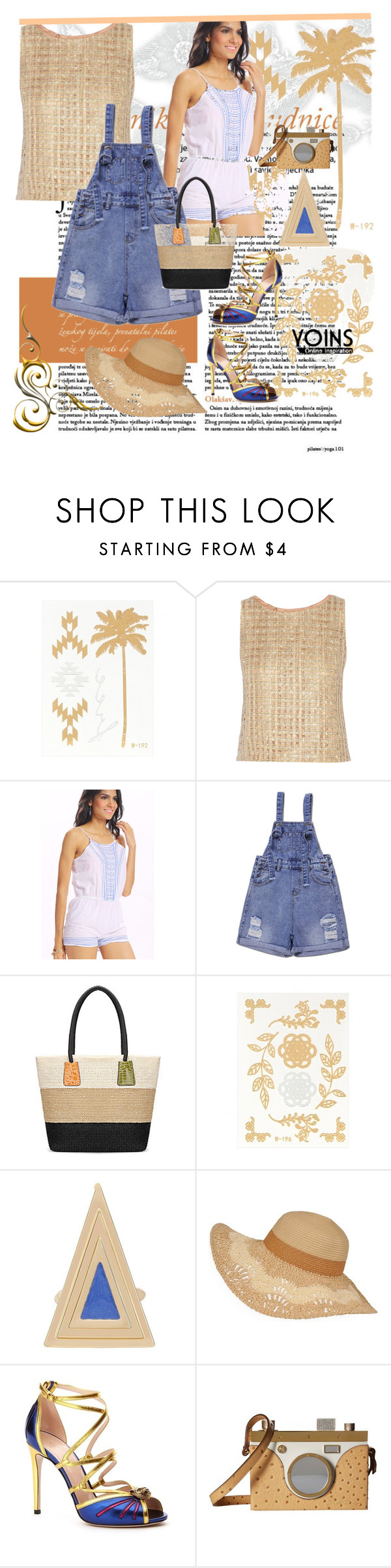 """""""Yoins"""" by vaslida ❤ liked on Polyvore featuring Oscar de la Renta, Gucci, Charlotte Olympia and yoins"""