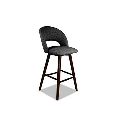 Wrought Studio Letellier 26 Swivel Bar Stool Upholstery Charcoal