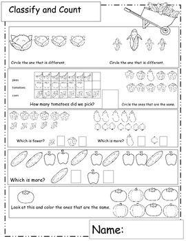 Garden Themed Math Worksheets How Does My Garden Grow Garden Patch Math Teacherspayteachers Com Math Worksheets Math Classroom Material