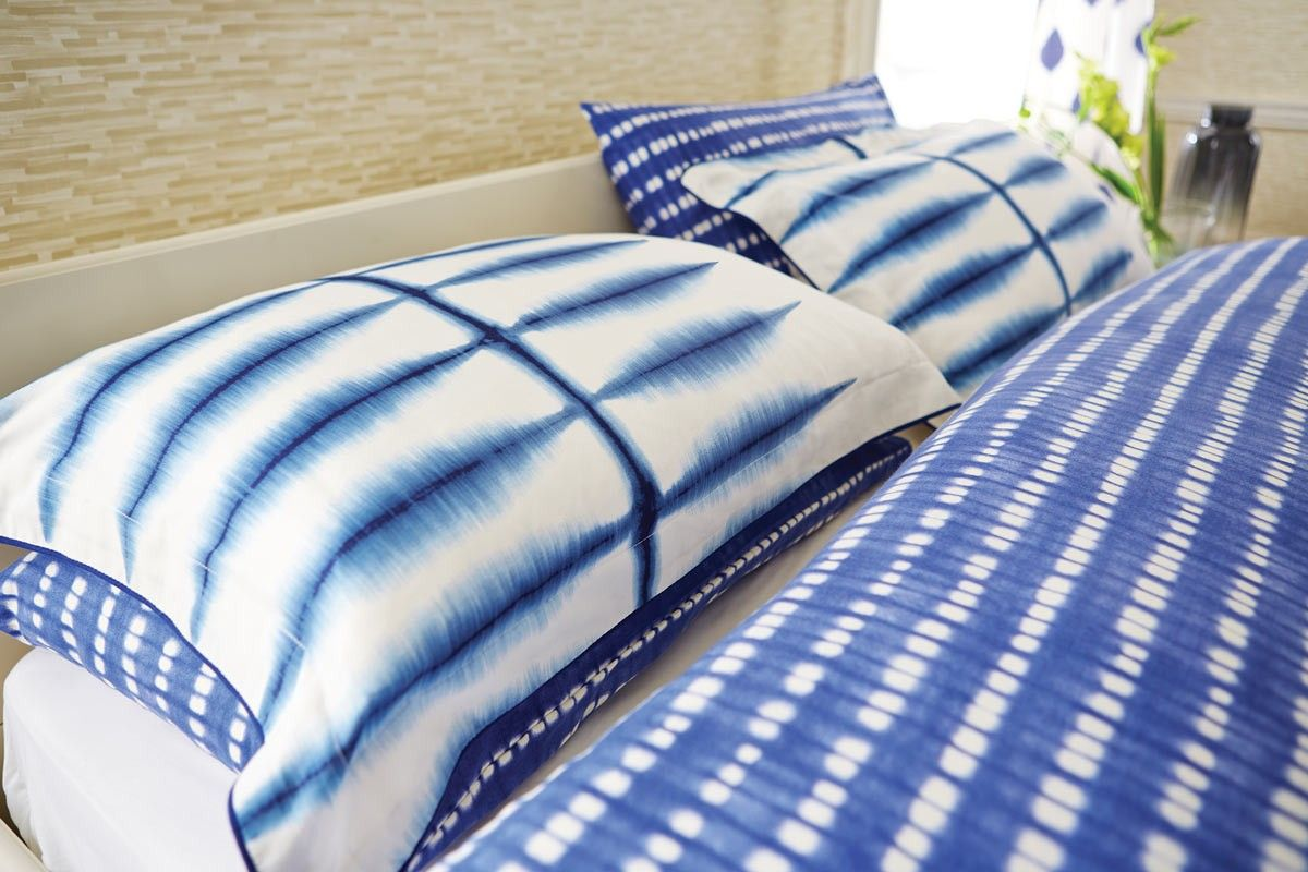 Sappire Blue Bedding Scion Shibori Designer Bed Linen At
