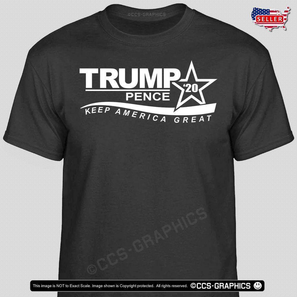 fc060e394 TRUMP 2020 Keep America Great T-Shirt -- Pence election campaign t shirt  usa tee #Handmade #BasicTee