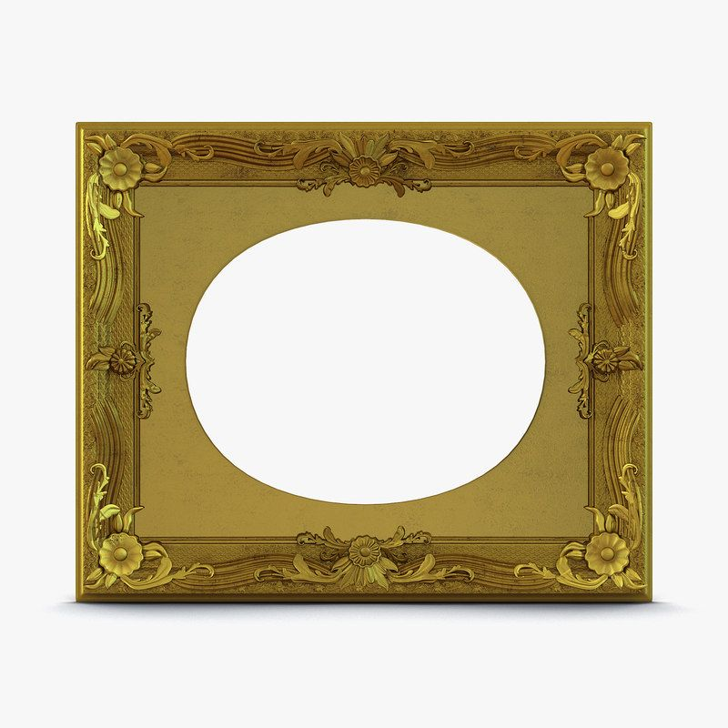 3D Baroque Picture Frame 7 - 3D Model | 3D-Modeling | Pinterest | Models