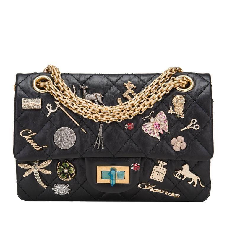 Chanel Black Reissue 2 55 Lucky Charm Bag Chanel Handbags Bags Chanel Shoulder Bag