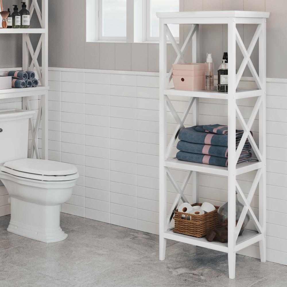 Riverridge X Frame Bath Collection 4 Shelf Storage Tower White Walmart Com In 2020 Shelves Bathroom Shelf Cabinet Bathroom Towel Storage