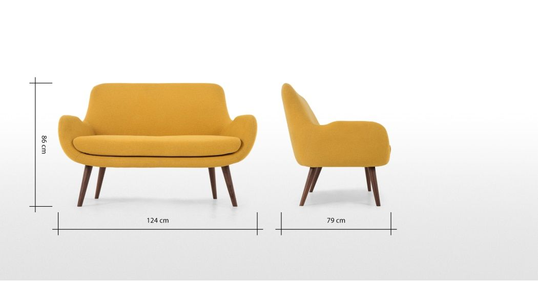 Moby Canape 2 Places Jaune D Or Made Com Canape 2 Places Canape Confortable