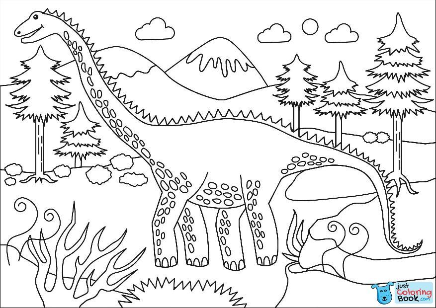 Diplodocus Coloring Page Free Printable Coloring Pages With Cute