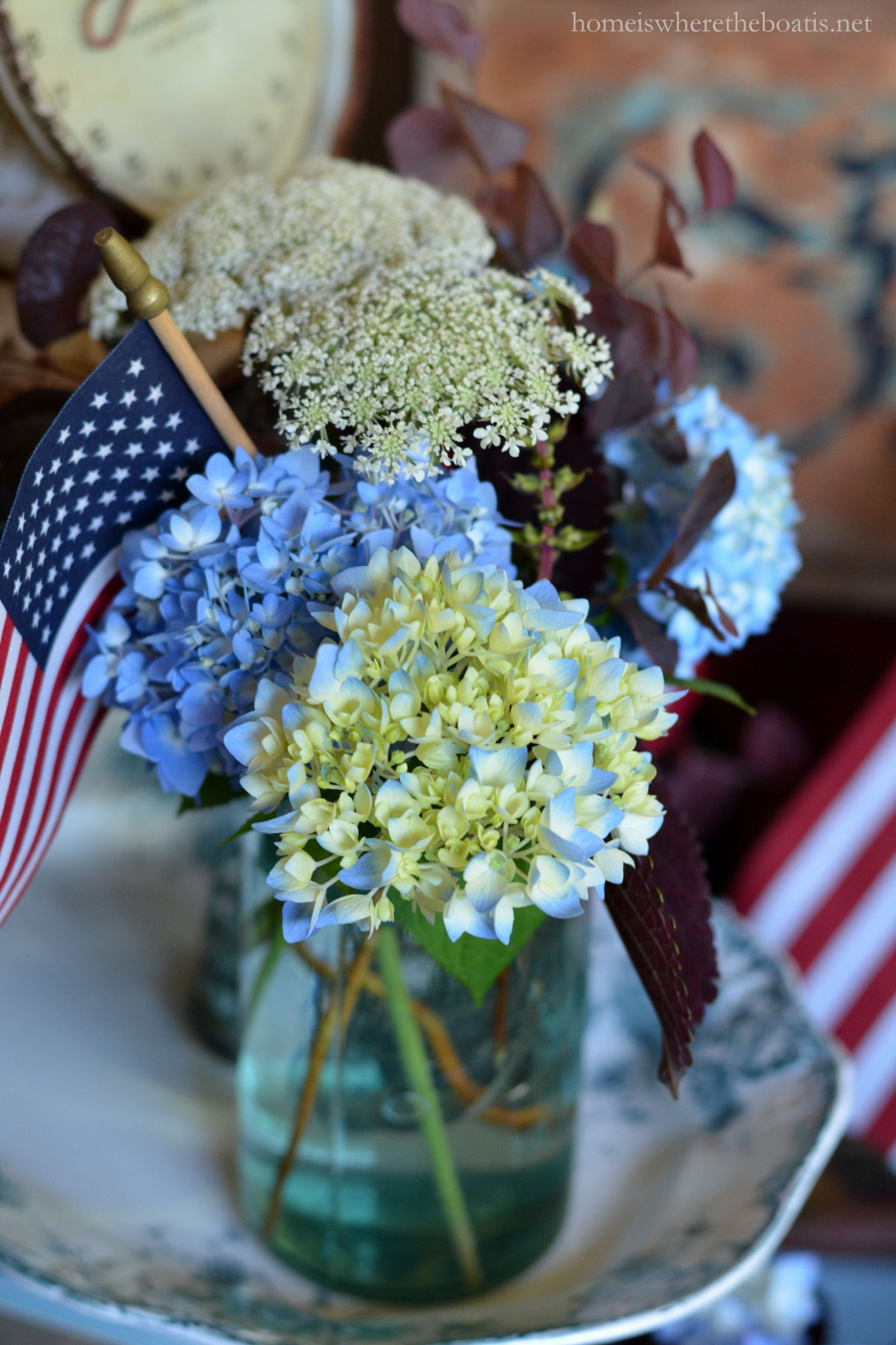 Ball Jar Bouquets To Celebrate The Red, White & Bloom