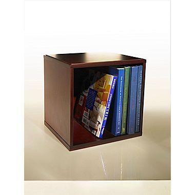 Bindertek Wood Desk Organizers Cube with Shelves, Mahogany