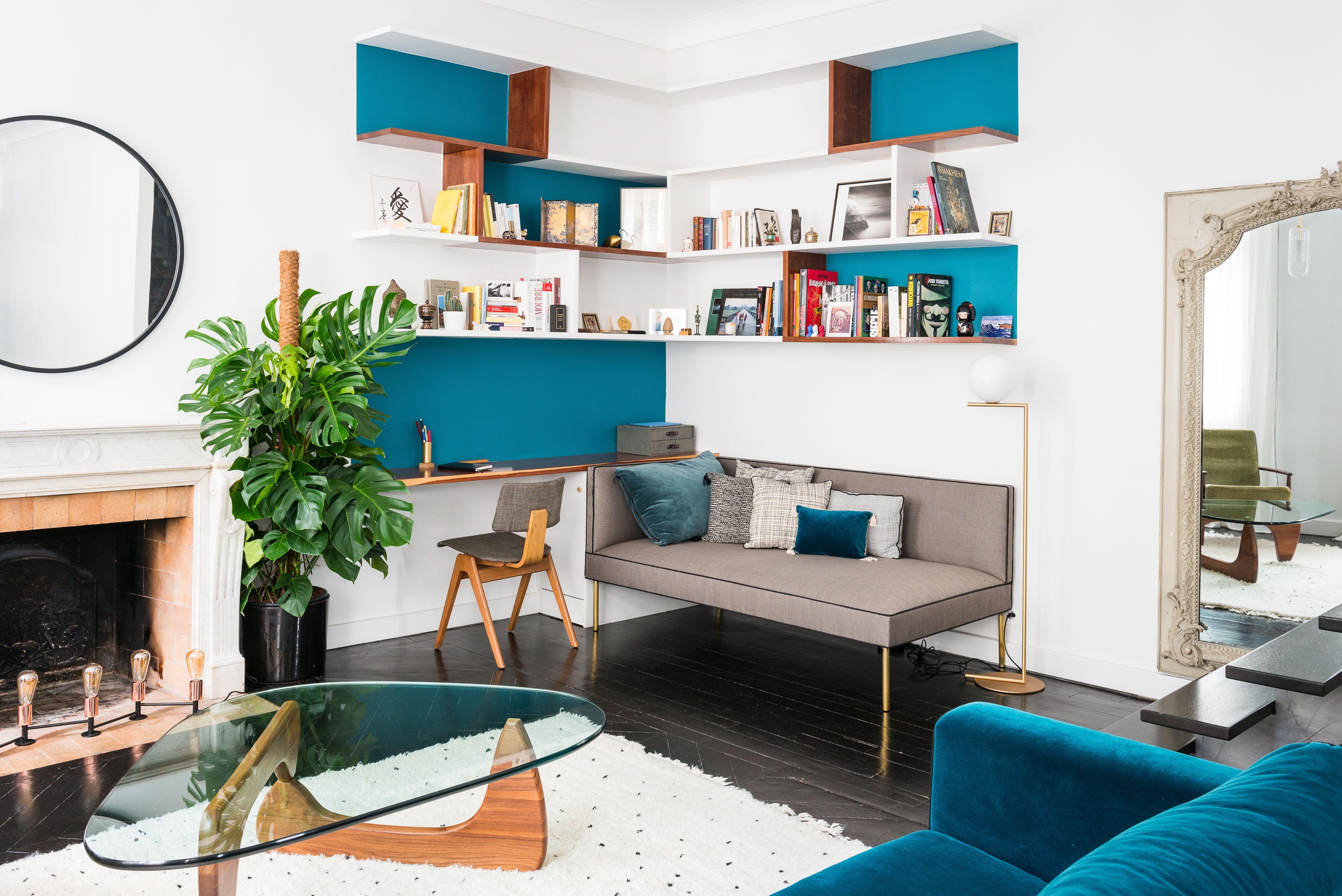 Appartement Haussmannien Avec Biblioth Que Sur Mesure En  # Vaisselier D'Angle Moderne En Palissandre