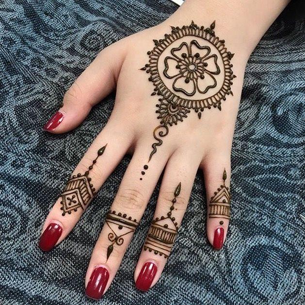 Kamu Suka Pakai Henna Yuk Lihat Ide Simple Gambar Henna Yang Mudah