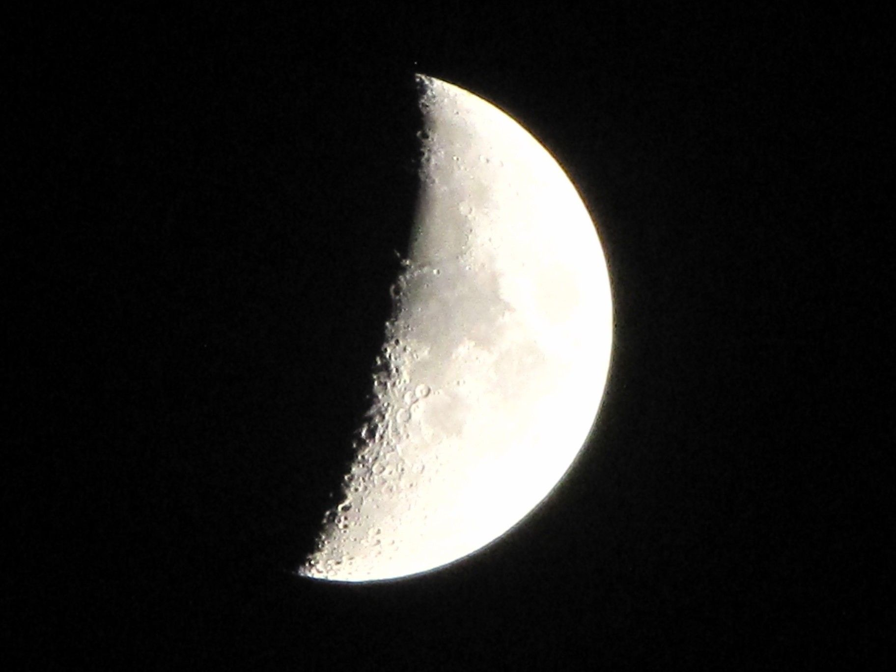 Waxing crescent - Cuarto creciente. | Simple Photography | Pinterest
