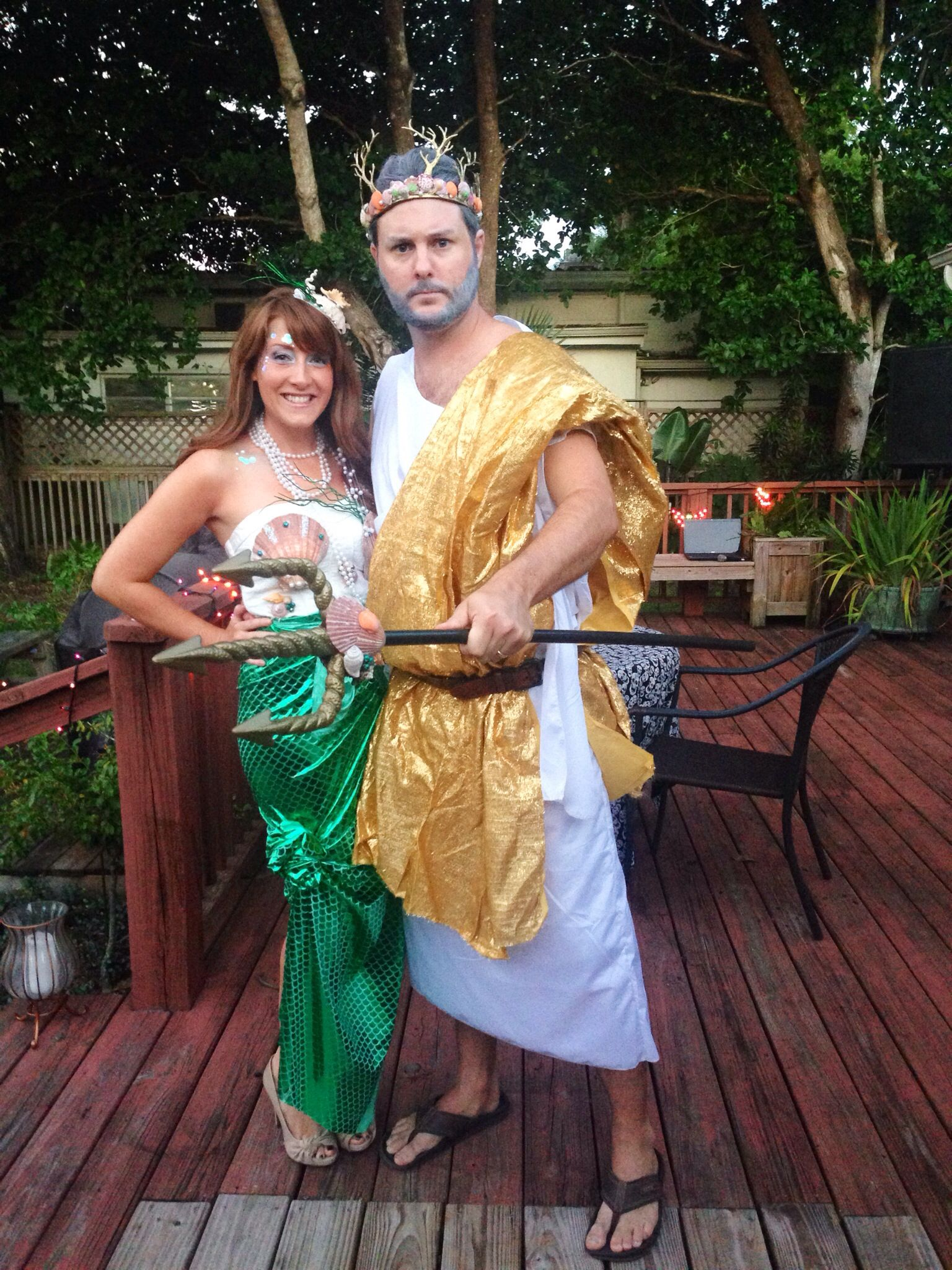 mermaid and king neptune costume carneval pinterest unterwasserwelt karneval und kost m. Black Bedroom Furniture Sets. Home Design Ideas