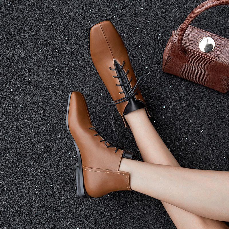 Chiko Hildebranda Square Toe Block Heels Boots