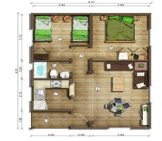 Planos casas modernas planos de casas de 50 metros for Casa moderna de 70 metros cuadrados