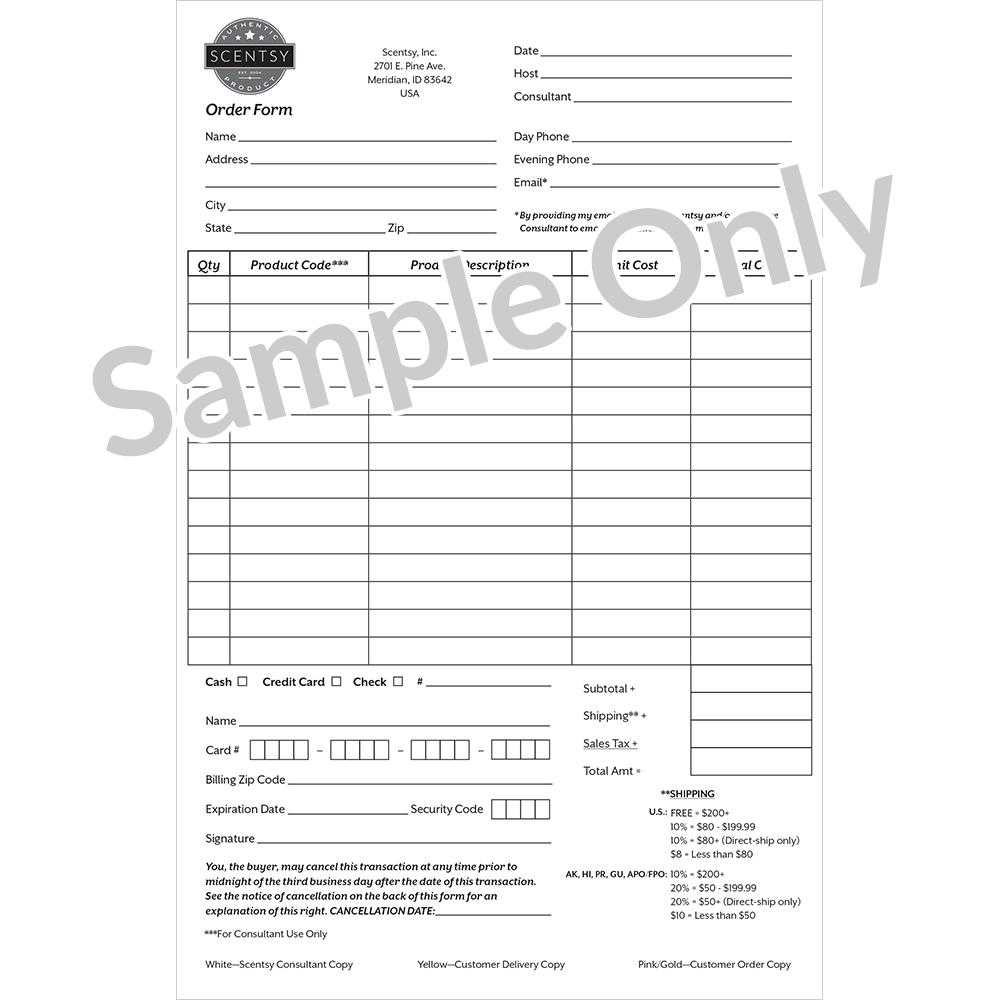 Scentsy Customer Order Forms Au Nz En In 2019 Scentsy