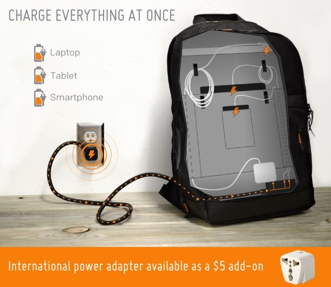 MOS Pack' Backpack Features a Built-In Power Strip for Hassle-Free ...