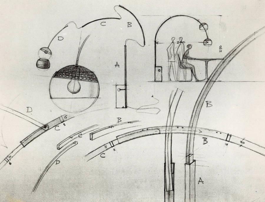 Arco lampada da terra archille e pier giacomo castiglioni flos